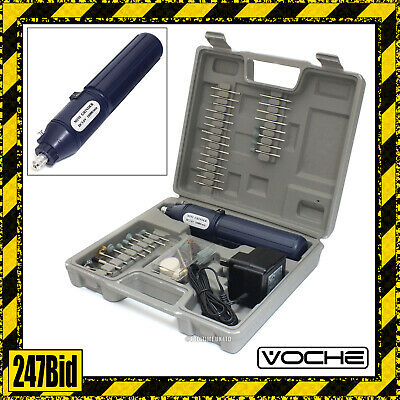 Voche® Cordless Rechargeable Mini Rotary Drill Hobby Tool 100 Accessories & Case