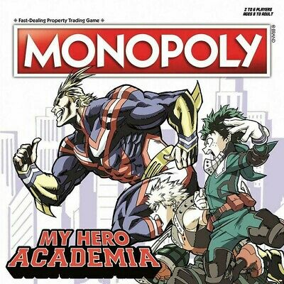 NEW Monopoly My Hero Academia Exclusive Board Game Plus Ultra Hasbro Deku Tsuyu