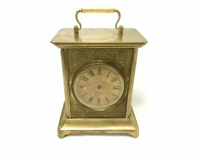 Antique Brass Carriage Alarm Clock for Parts or Repair | ref 22605