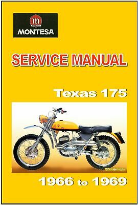 MONTESA Workshop Texas 175 1966 1967 1967 1968 & 1969 Service & Repair
