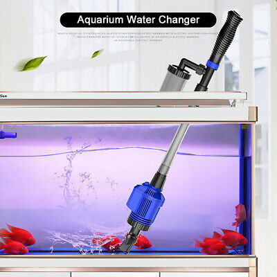 Aquarium Vacuum Gravel Electric Water Filter Cleaner Fish Tank Syphon Pump L2K0