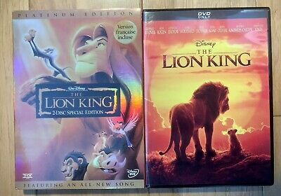 The Lion King Live DVD (2019) & The Lion King 1 DVD (1994) **GREAT DEAL**