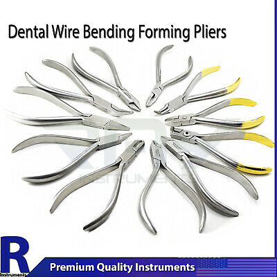 Orthodontic Dental Utillity Pliers Wire Bending Arch Forming Loop Clinic Lab
