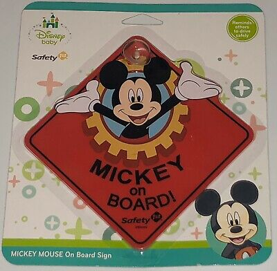 New Disney Mickey Mouse Baby on Board Sign