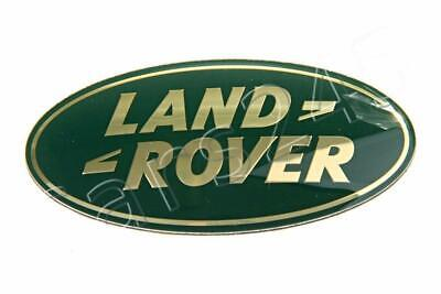 7 x 3.5cm Land Rover Genuine Small Oval Woven Cloth Badge LR3177