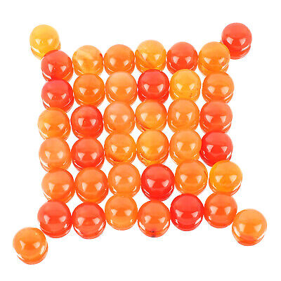 40 Pcs Natural Carnelian 13mm Round Top Quality Loose Cabochon Lot Gemstones