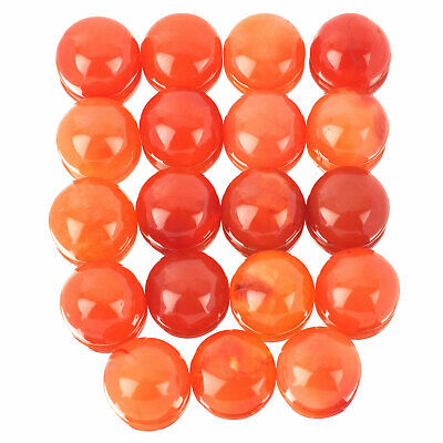 19 Pcs Natural Carnelian 19mm Round Top Quality Loose Cabochon Gems 489.35 Cts