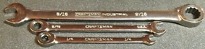 3 Ratcheting Wrenches: 1 Craftsman Industrial, 2 Craftsman Sae 72 Teeth