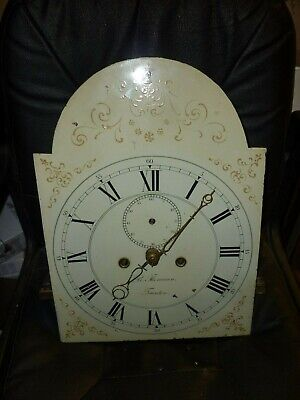 Antique 8 Day Longcase Grandfather Clock Movement And Dial 12ins By 16ins