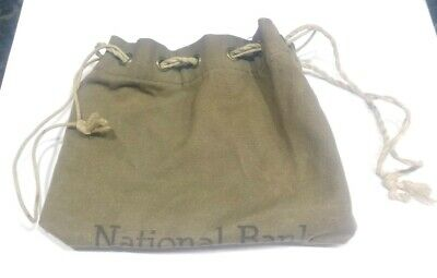 Antique National Bank Siver Coin Canvas Pouch
