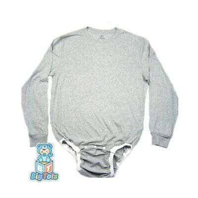 adult WEAR2WORK gray bodysuit OneSuit  incontinence