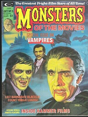 Monsters Of The Movies # 3 Marvel Horror Magazine Vampires Hammer Films Chris Le