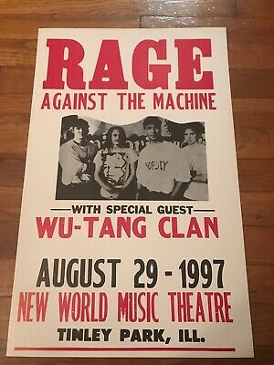 Rage Against the Machine 1997 Illinois Concert Poster 22x14""