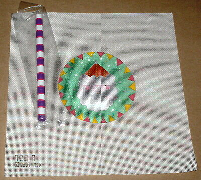 "Melissa Shirley Christmas ""Santa Claus Lollipop"" Handpainted Needlepoint Canvas"