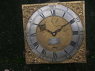 C1750 30hr   LONGCASE GRANDFATHER CLOCK DIAL+movement 11 inch        James Pike