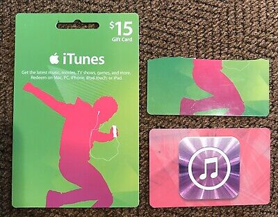 iTunes Gift Card, $45 Value, Called Apple To Confirm The Balance, 3 $15 Cards