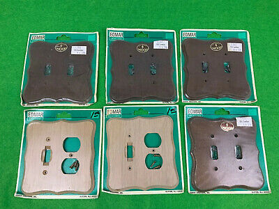 Edmar Creations, Solid Wood Wall Switch Plates Lot Of 6