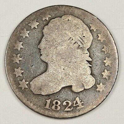 1824/2 Bust Dime.  Circulated.  143550