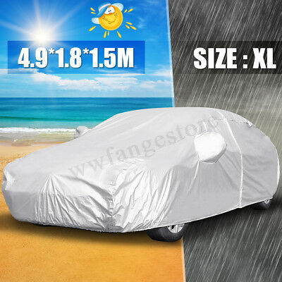 4.9M XL Car Cover Anti UV Snow Dust Rain Waterproof Outdoor Resistant Protect
