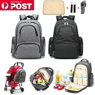 Mummy Bag Nappy Wrap Waterproof Travel Package Backpack with Stroller Straps