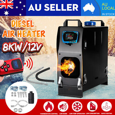 All IN One 8KW 12V Diesel Air Heater Thermostat For Caravan Motorhome Trailer AU