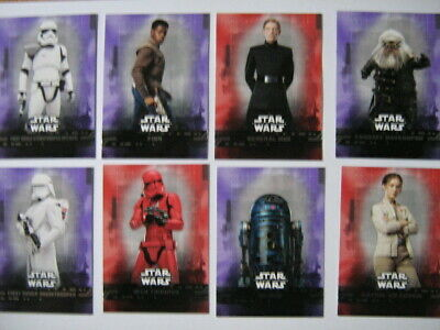 Topps Star Wars Rise of Skywalker Pick Purple or Red Parallel cards new