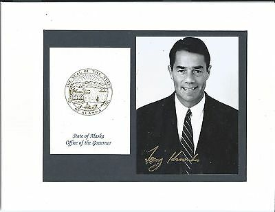 Tony Knowles - Politician - Seventh Governor Of Alaska - Signed Photograph - Coa