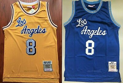 Kobe Bryant #8 Los Angeles Lakers 1996-97 Throwback Jersey - Gold / Blue
