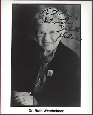 Dr. Ruth Westheimer, Sex Therapist, Signed Photo, COA, UACC RD 036