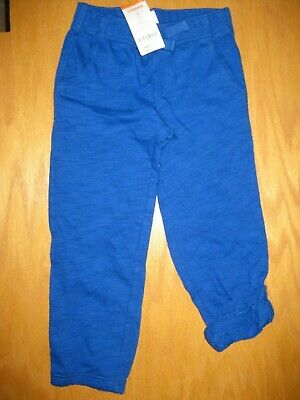 NWT Gymboree SUNNY SPORTS Navy Blue Knit Roll Up Down Pants Elastic Waist