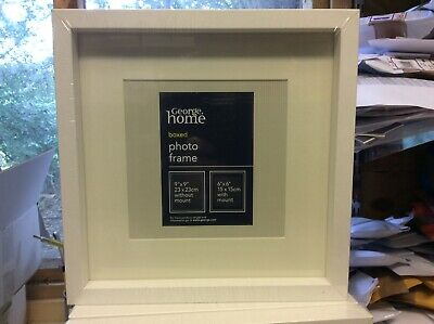 GEORGE HOME WHITE PHOTO / PICTURE FRAME ( 23 x 23 x 2.4 cm)  NEW SEALED