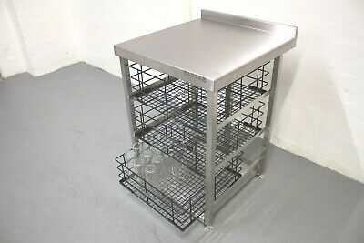 Three Tier Stainless Steel 500x500 Glasswash Basket Storage For Modular Bar