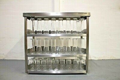 900mm Stainless Steel Modular Glass Shelving Storage Station