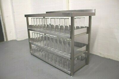 1200mm Stainless Steel Modular Glass Shelving Storage Station