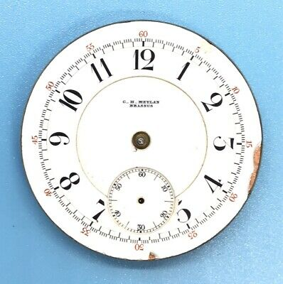 Vintage High Grade Pocket Watch C. H. Meylan Brassus Movement 21j Adjusted Swiss