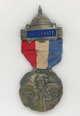 1916 Progressive National Convention Chicago Campaign Pinback Medal Badge