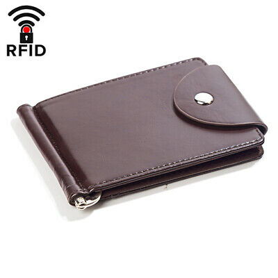Men Leather Bifold Wallet Women ID Card Holder Purse Cash Pocket Clutch Slim Bag