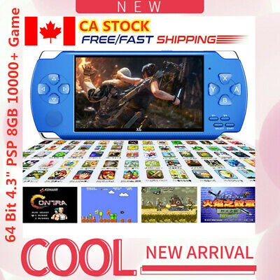 """X6 64 Bit 4.3"""" PSP Portable Handheld Game 8GB Console Player 10000+ Games Camera"""