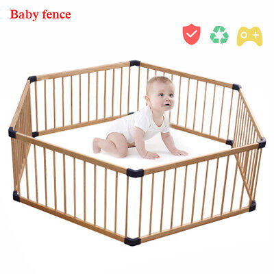 Wooden Baby Playpen Safety Activity Centre Safety Play Yard Home Indoor Outdoor