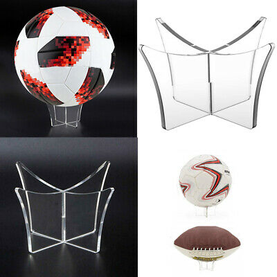 Clear Acrylic Football Display Stand / Ball Holder / Signed Autographed Shelf