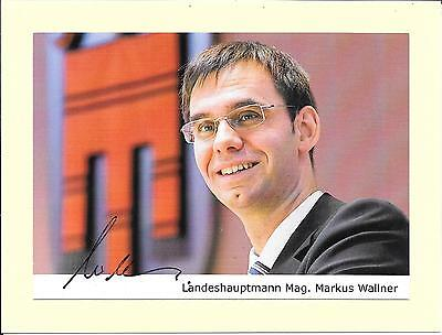 Markus Wallner - Austrian Poltician - Governor Of Vorarlberg - Signed Photo Coa