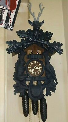 8 Day Cuckoo Clock Black Forest Musical German * WORKS GREAT *