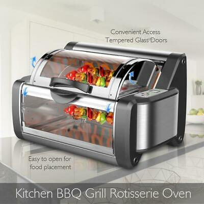 Rotating Kitchen Cooker Countetop Rotisserie +Grill Oven Home Kitchen Appliance