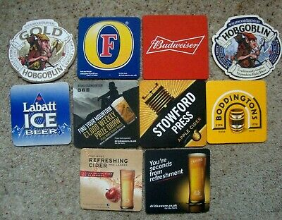 JOB  LOT  RANDOM  SELECTION  50  DIFFERENT  BRITISH  PUB   BEER  MATS   NEW