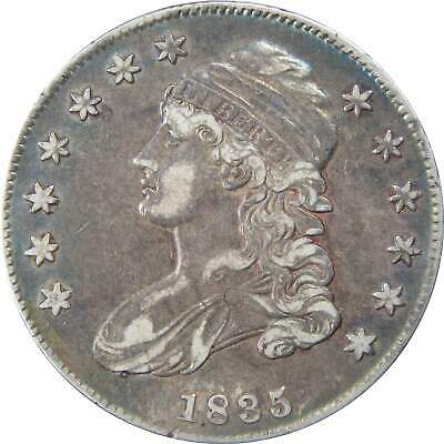 1835 50c Capped Bust Silver Half Dollar Coin XF EF Extremely Fine
