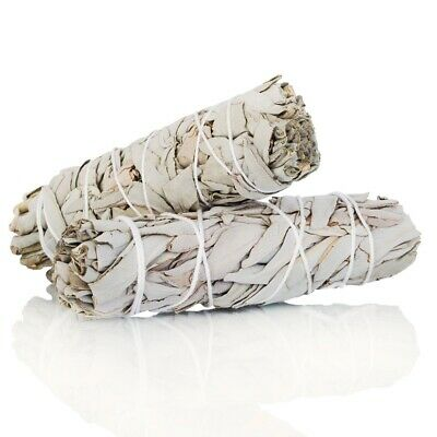 """2-pack White Sage Cali Smudge Stick ( 2 Sage Bundle, Cleansing) Made in USA 4""""-6"""