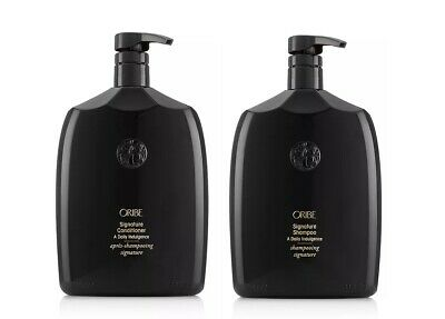 Oribe Signature Shampoo & Conditioner Liter Duo 33.8 oz with Pumps