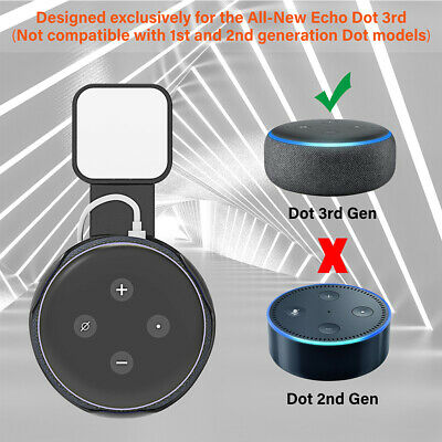 Outlet Wall Mount Hanger Holder Stand Socket for Amazon Echo Dot 3rd Generation