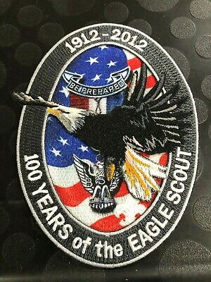 BOY SCOUT 100 YEARS OF THE EAGLE SCOUT 1912-2012 EMBROIDERED JACKET EMBLEM PATCH