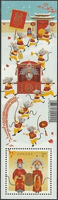 Canada Lunar New Year Rat souvenir sheet MNH 2020
